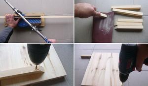 KROK I - Przymocowywanie kantówek do podłogi